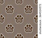knitted seamless pattern animal ... | Shutterstock .eps vector #364524572