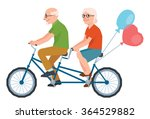 vector senior married a loving... | Shutterstock .eps vector #364529882