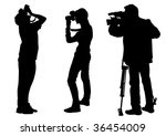 graphic cameraman at work.... | Shutterstock . vector #36454009