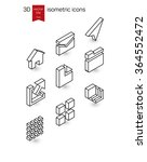 isometric line icons. stylized... | Shutterstock .eps vector #364552472