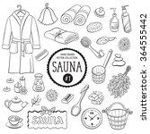 sauna accessories sketch. hand... | Shutterstock .eps vector #364555442