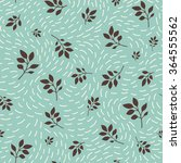 cute seamless floral background.... | Shutterstock .eps vector #364555562