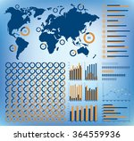 vector infographics set  ring...   Shutterstock .eps vector #364559936