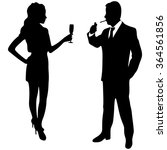 man and woman toast  | Shutterstock .eps vector #364561856