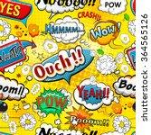 comic speech bubbles seamless... | Shutterstock .eps vector #364565126