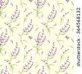 seamless pattern of lavender... | Shutterstock . vector #364568132