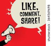 megaphone hand  business... | Shutterstock .eps vector #364569698