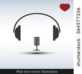 heart  headphone and microphone ... | Shutterstock .eps vector #364577336