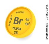bromum or bromine chemical... | Shutterstock . vector #364579346