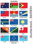 australia flags. | Shutterstock .eps vector #3645854