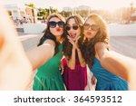 summer outdoor portrait of... | Shutterstock . vector #364593512