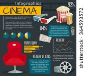 cinema infographics | Shutterstock .eps vector #364593572