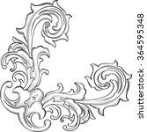 the acanthus nice corner... | Shutterstock . vector #364595348