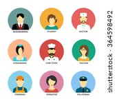 people occupation avatar set in ... | Shutterstock .eps vector #364598492