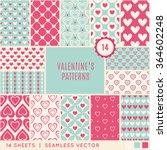 valentine day seamless pattern. ... | Shutterstock .eps vector #364602248