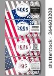 set of modern gift voucher... | Shutterstock .eps vector #364603208