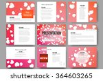 set of 9 vector templates for... | Shutterstock .eps vector #364603265