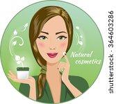 beautiful brunette woman holds... | Shutterstock .eps vector #364603286