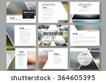 set of 9 vector templates for... | Shutterstock .eps vector #364605395