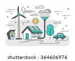 ecology concept with eco... | Shutterstock .eps vector #364606976