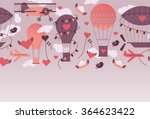 romantic design with valentine... | Shutterstock .eps vector #364623422