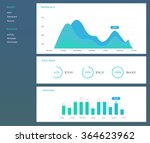 infographic dashboard template... | Shutterstock .eps vector #364623962