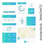 clean mobile web ui kit. white...