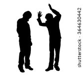 vector silhouette of people who ... | Shutterstock .eps vector #364630442