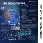 hud background outer space.... | Shutterstock .eps vector #364635302