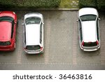 Elevated View Of Parked Cars I...