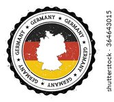 germany map and flag in vintage ... | Shutterstock .eps vector #364643015