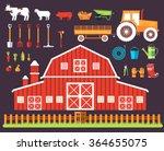 Flat Farm In Village Set...