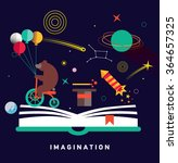 imagination concept with opened ... | Shutterstock .eps vector #364657325