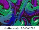 beautiful street art graffiti.... | Shutterstock . vector #364660226