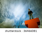 boy looking into the future ... | Shutterstock . vector #36466081