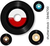 Retro 45 Rpm Record  With...