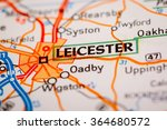 map photography  leicester city ... | Shutterstock . vector #364680572