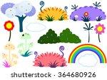 vector illustration pack of... | Shutterstock .eps vector #364680926
