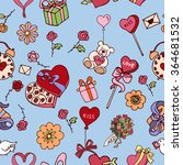 seamless doodle pattern for... | Shutterstock .eps vector #364681532
