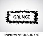 brush stroke . black paint... | Shutterstock .eps vector #364682576