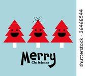 vector tree of christmas card | Shutterstock .eps vector #36468544