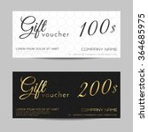 gift voucher template   vector... | Shutterstock .eps vector #364685975