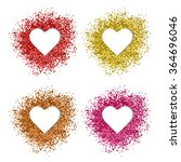 red glitter frame. set of... | Shutterstock .eps vector #364696046