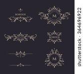 decorative vector monogram and... | Shutterstock .eps vector #364696922