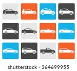 flat different types of cars... | Shutterstock .eps vector #364699955
