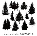 vector silhouette of different... | Shutterstock .eps vector #364704812