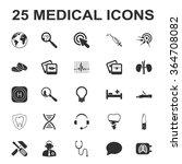 Постер, плакат: Medicine icons set Medicine