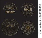 set of vector sunset hipster...   Shutterstock .eps vector #364710452