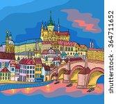 Vector Sketch Of Prague...