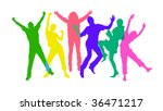 colored silhouettes of happy... | Shutterstock . vector #36471217